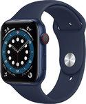 Apple Watch Series 6 LTE 44mm Aluminiumgehäuse Blau Sportarmband Blau # M09A3FD/A